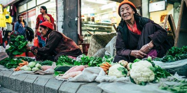 Farmer market in Leh, India