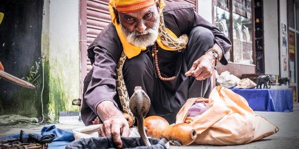 Snake Sharmer, Old Manali, India